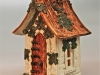 Fairy House with maple leaves