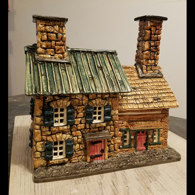 Stone Home with Log Addition